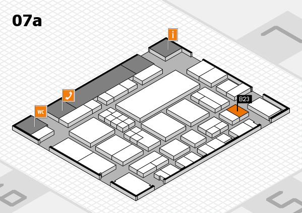 EuroShop 2017 hall map (Hall 7a): stand B23