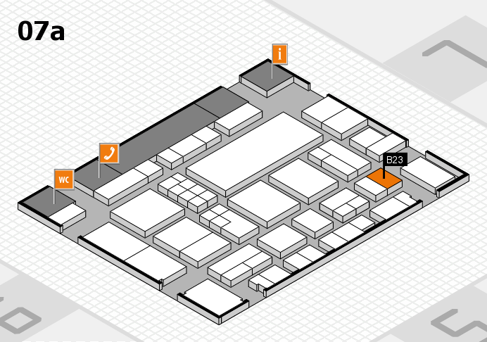 EuroShop 2017 hall map (Hall 7a): stand B23