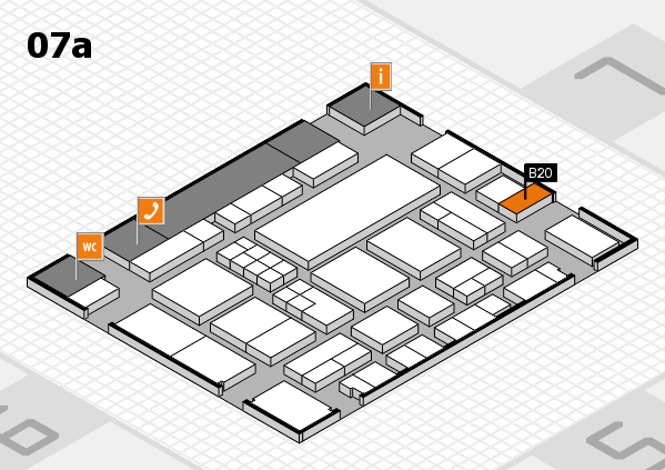 EuroShop 2017 hall map (Hall 7a): stand B20