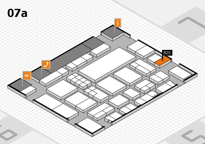 EuroShop 2017 hall map (Hall 7a): stand B20