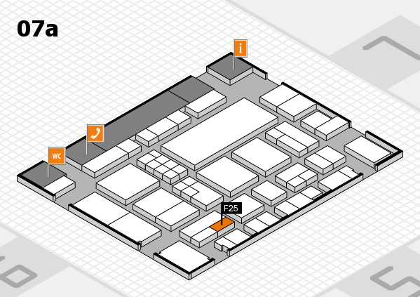 EuroShop 2017 hall map (Hall 7a): stand F25