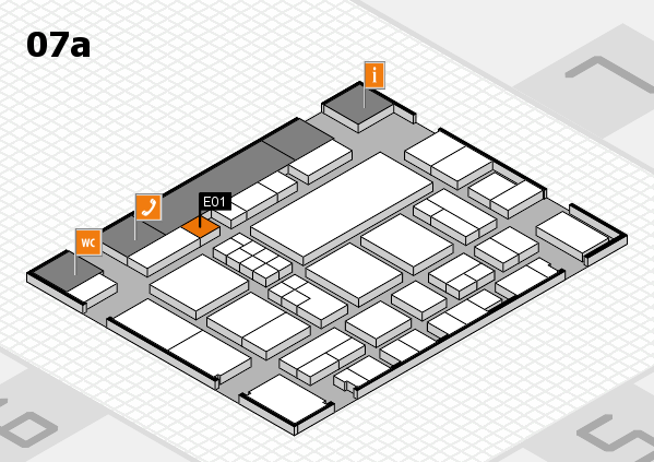 EuroShop 2017 hall map (Hall 7a): stand E01