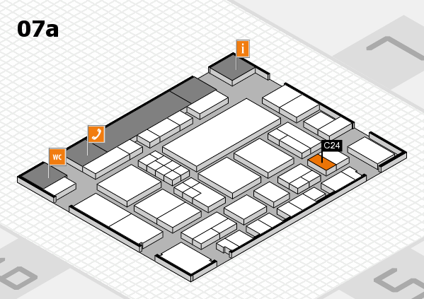EuroShop 2017 hall map (Hall 7a): stand C24