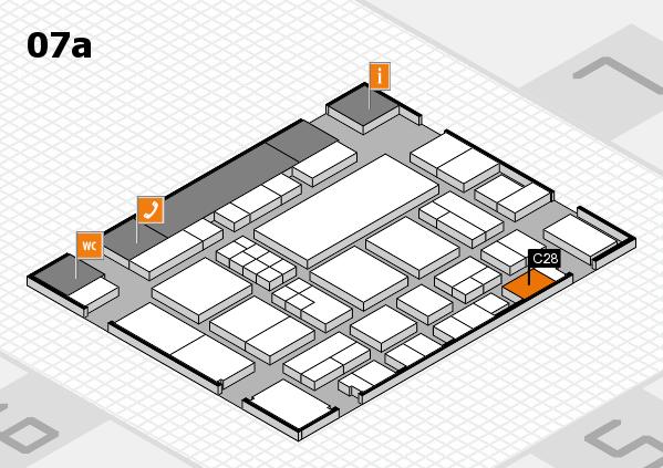 EuroShop 2017 hall map (Hall 7a): stand C28