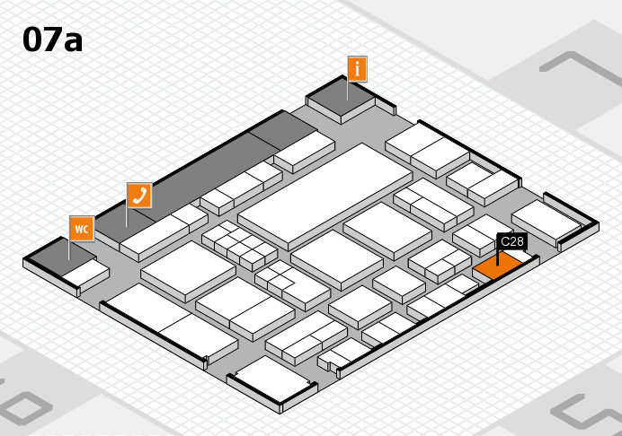 EuroShop 2017 hall map (Hall 7a): stand C28