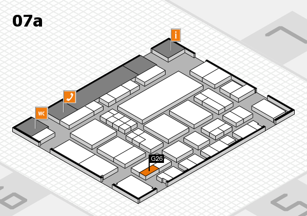 EuroShop 2017 hall map (Hall 7a): stand G26