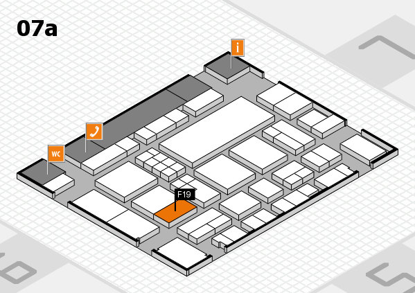 EuroShop 2017 hall map (Hall 7a): stand F19