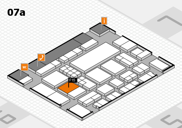 EuroShop 2017 hall map (Hall 7a): stand F15