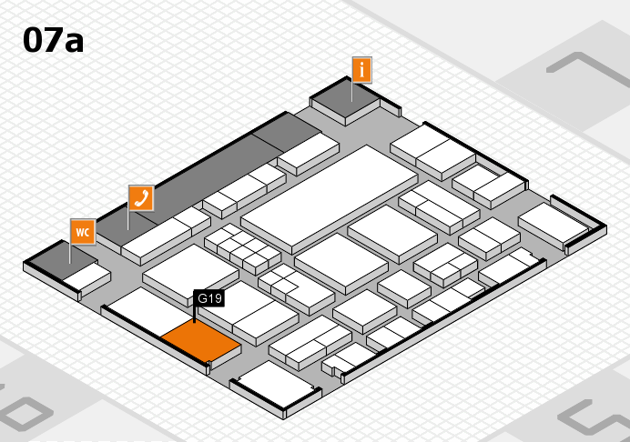 EuroShop 2017 hall map (Hall 7a): stand G19