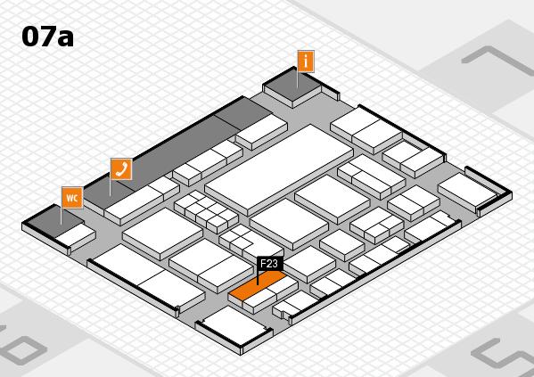 EuroShop 2017 hall map (Hall 7a): stand F23