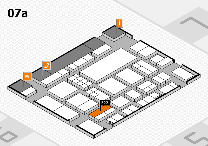 EuroShop 2017 hall map (Hall 7a): stand F23