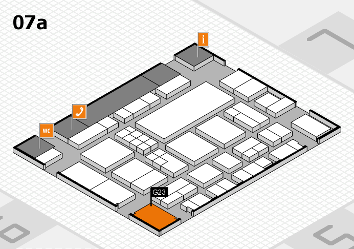 EuroShop 2017 hall map (Hall 7a): stand G23