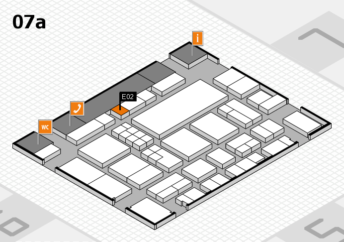 EuroShop 2017 hall map (Hall 7a): stand E02