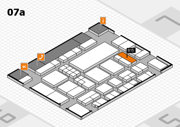 EuroShop 2017 hall map (Hall 7a): stand B15