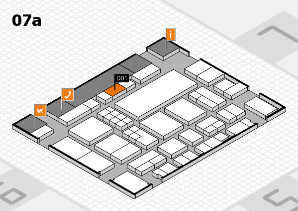 EuroShop 2017 hall map (Hall 7a): stand D01