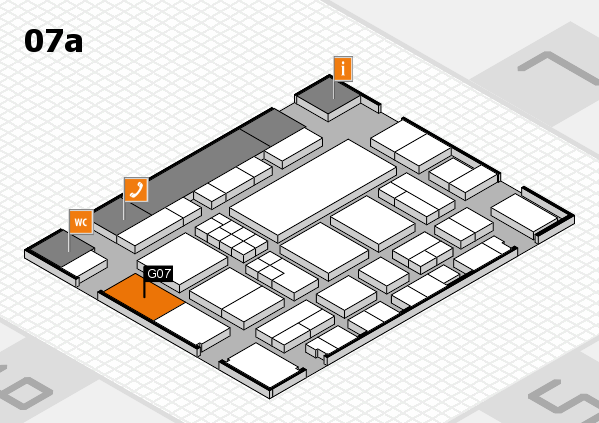 EuroShop 2017 hall map (Hall 7a): stand G07