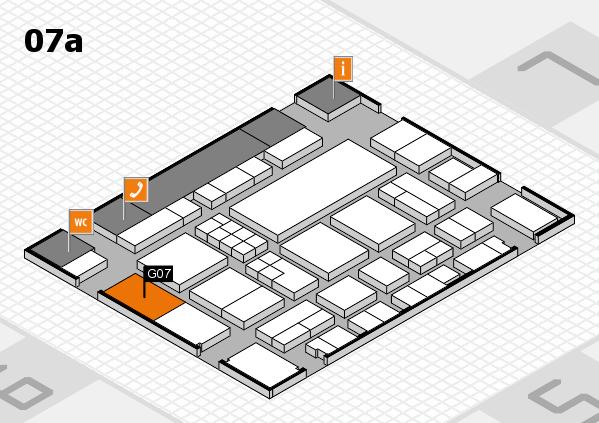 EuroShop 2017 hall map (Hall 7a): stand G07
