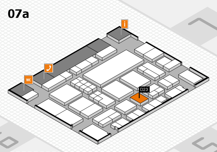 EuroShop 2017 hall map (Hall 7a): stand D23
