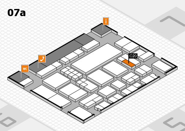 EuroShop 2017 hall map (Hall 7a): stand C20