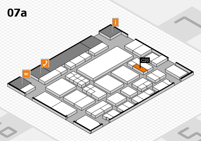 EuroShop 2017 hall map (Hall 7a): stand C20