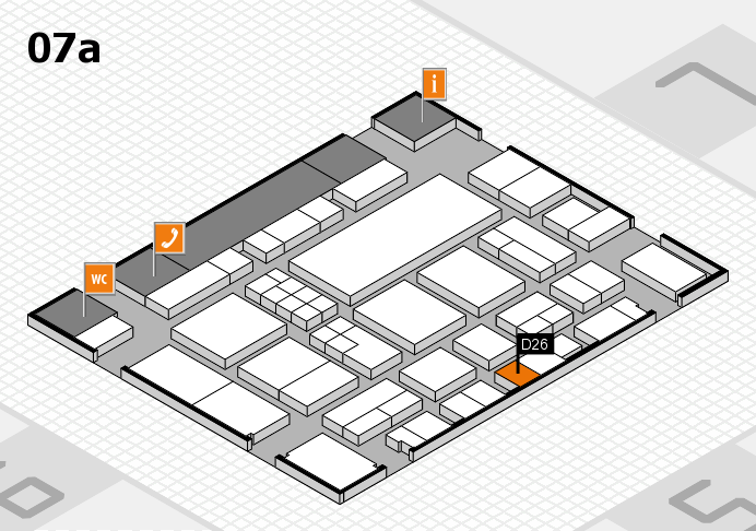 EuroShop 2017 hall map (Hall 7a): stand D26