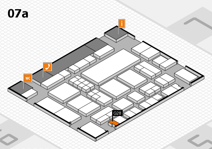 EuroShop 2017 hall map (Hall 7a): stand G28