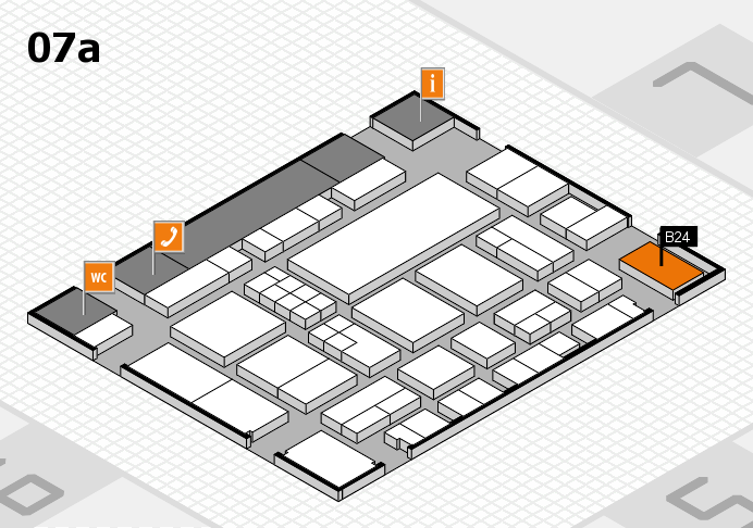 EuroShop 2017 hall map (Hall 7a): stand B24