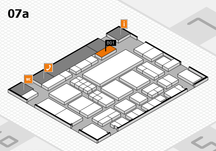 EuroShop 2017 hall map (Hall 7a): stand B01