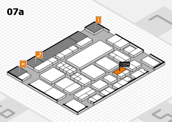 EuroShop 2017 hall map (Hall 7a): stand C23A
