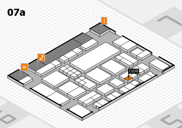 EuroShop 2017 hall map (Hall 7a): stand C23B