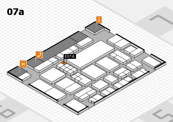 EuroShop 2017 hall map (Hall 7a): stand E07-8
