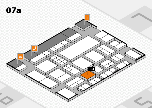 EuroShop 2017 hall map (Hall 7a): stand E24