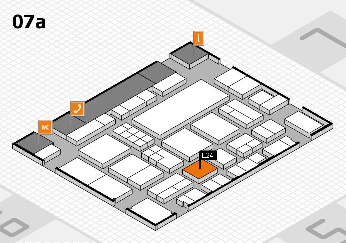 EuroShop 2017 hall map (Hall 7a): stand E24
