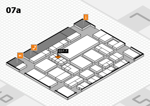 EuroShop 2017 hall map (Hall 7a): stand E07-7