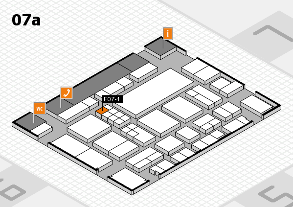 EuroShop 2017 hall map (Hall 7a): stand E07-1