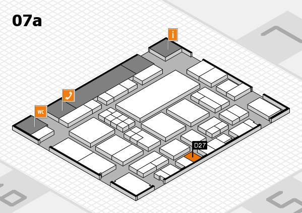 EuroShop 2017 hall map (Hall 7a): stand D27