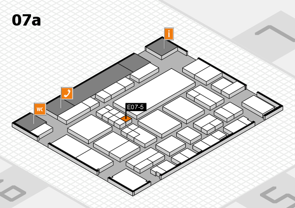 EuroShop 2017 hall map (Hall 7a): stand E07-5