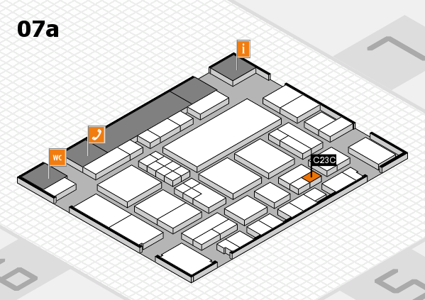 EuroShop 2017 hall map (Hall 7a): stand C23C