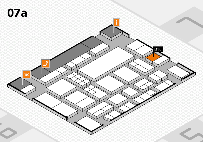 EuroShop 2017 hall map (Hall 7a): stand B16