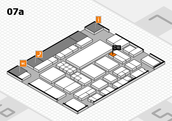 EuroShop 2017 hall map (Hall 7a): stand C16