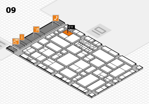 EuroShop 2017 hall map (Hall 9): stand E11