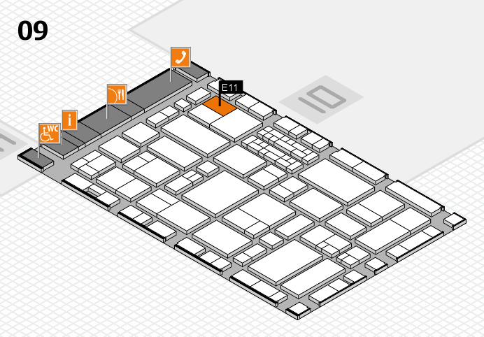 EuroShop 2017 hall map (Hall 9): stand E11