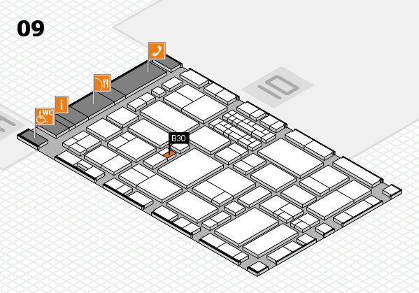 EuroShop 2017 hall map (Hall 9): stand B30