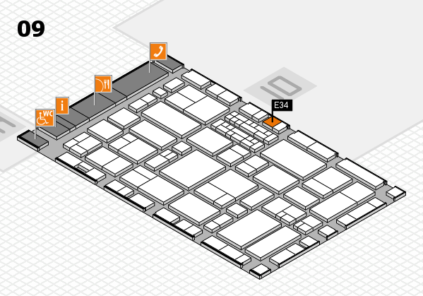 EuroShop 2017 hall map (Hall 9): stand E34