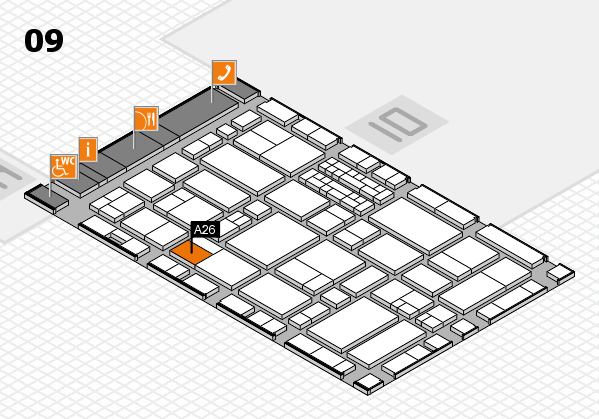 EuroShop 2017 hall map (Hall 9): stand A26