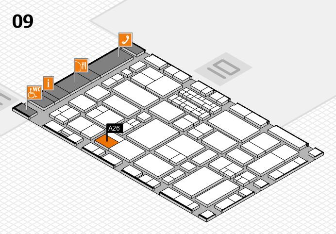 EuroShop 2017 hall map (Hall 9): stand A26