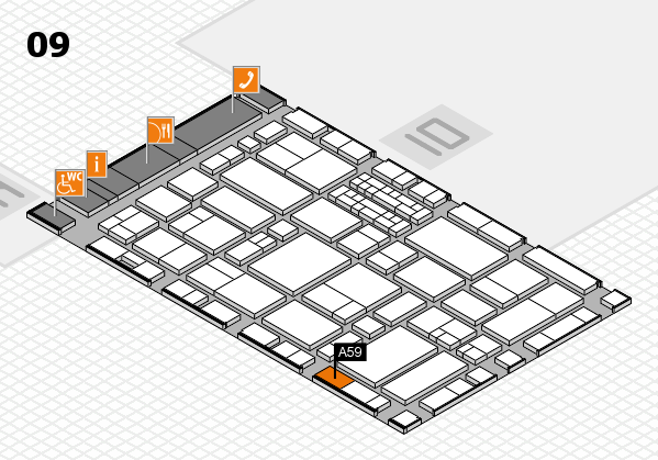 EuroShop 2017 hall map (Hall 9): stand A59