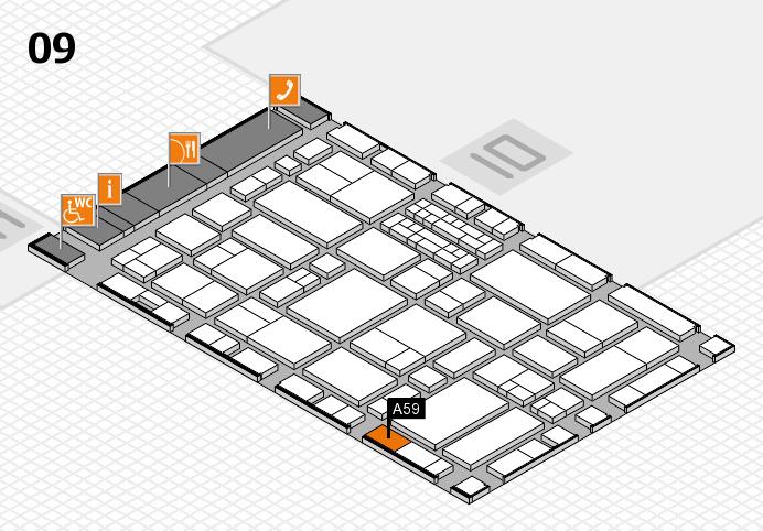 EuroShop 2017 hall map (Hall 9): stand A59