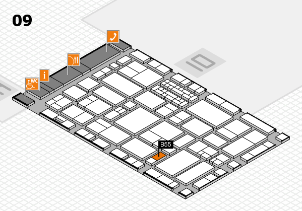 EuroShop 2017 hall map (Hall 9): stand B55