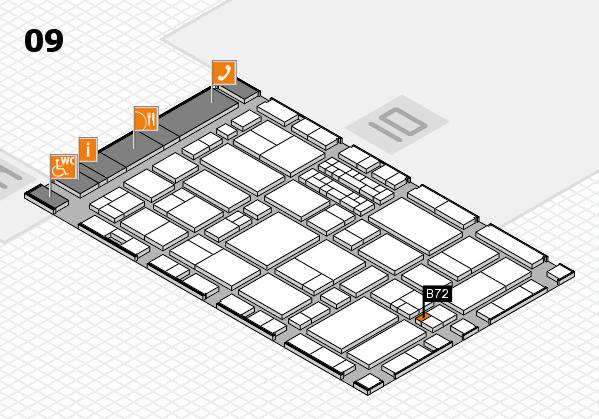 EuroShop 2017 hall map (Hall 9): stand B72